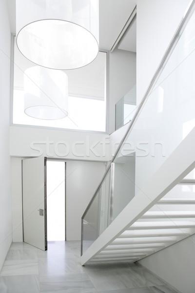 Home interior stair white architecture lobby   Stock photo © lunamarina