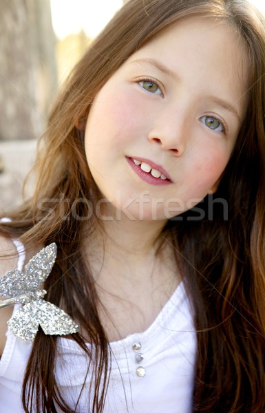 Portrait belle adolescente extérieur été fille Photo stock © lunamarina