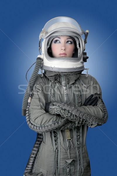 aircraft  astronaut spaceship helmet woman fashion Stock photo © lunamarina