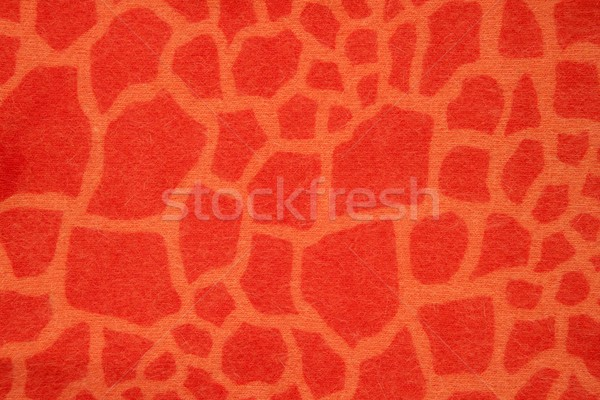 Girafe imitation Fantasy orange hiver tissu Photo stock © lunamarina