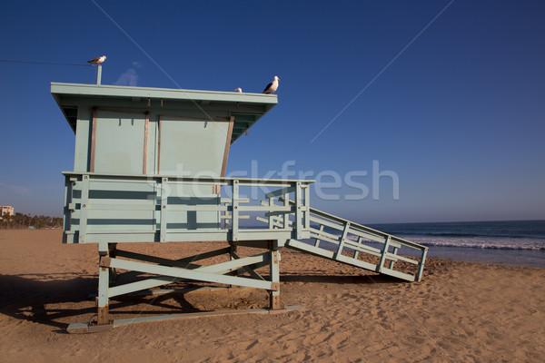 サンタクロース ビーチ ライフガード 塔 カリフォルニア 米国 ストックフォト © lunamarina