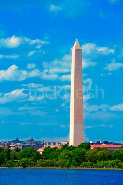 Washington Monument over Tidal Basin DC Stock photo © lunamarina