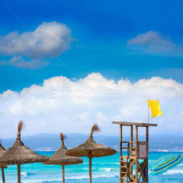 Strand majorca water landschap zee zomer Stockfoto © lunamarina