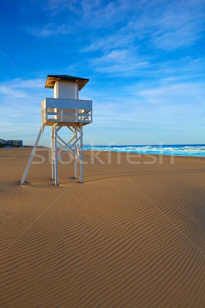 Tengerpart Valencia Spanyolország mediterrán égbolt természet Stock fotó © lunamarina