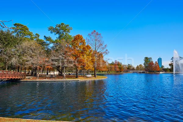 Houston parque lago otono Texas luz Foto stock © lunamarina