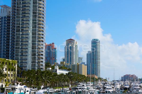 Miami praia Flórida EUA cidade construção Foto stock © lunamarina