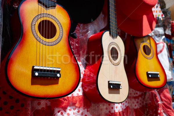 Seville souvenir spanish guitar Andalusia Spain Stock photo © lunamarina