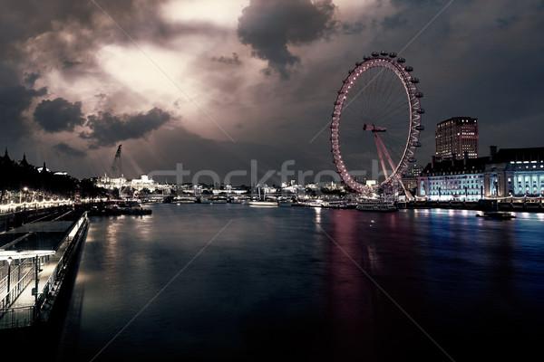 Londres coucher du soleil thames rivière Big Ben Angleterre Photo stock © lunamarina