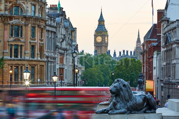 Londres carré lion Big Ben tour route Photo stock © lunamarina