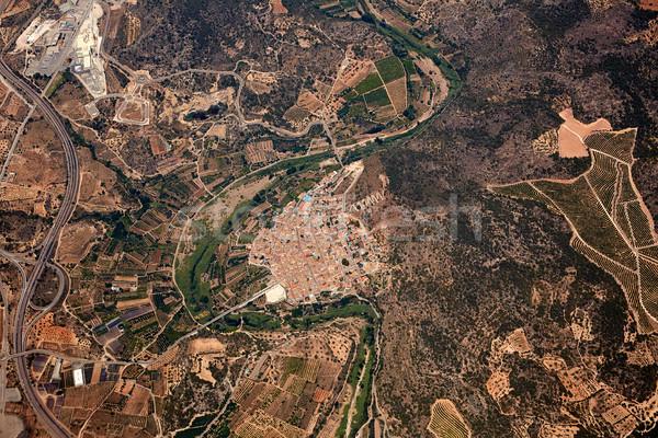 Légi falu Spanyolország repülőgép Európa gyönyörű Stock fotó © lunamarina