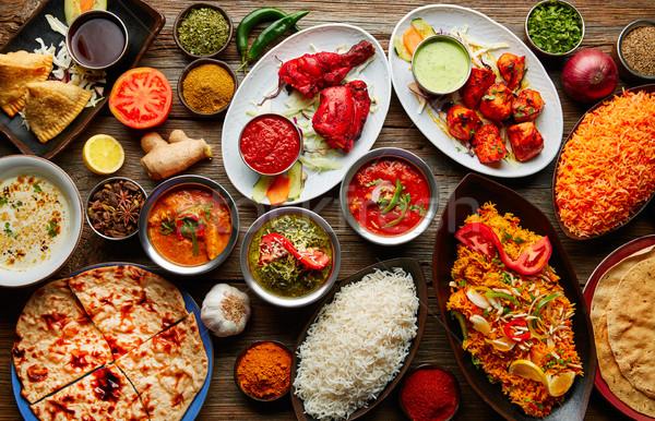 Assorted Indian recipes food various  Stock photo © lunamarina
