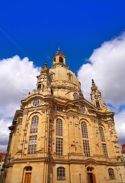 Dresden Frauenkirche church in Saxony Germany Stock photo © lunamarina