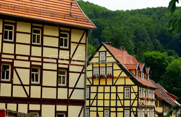 Stolberg facades in Harz mountains Germany Stock photo © lunamarina