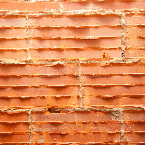 broken bricks in brickwall in wall restoration Stock photo © lunamarina