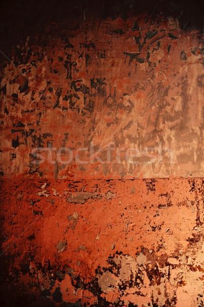 Aged grunge wall pink old paint texture Stock photo © lunamarina