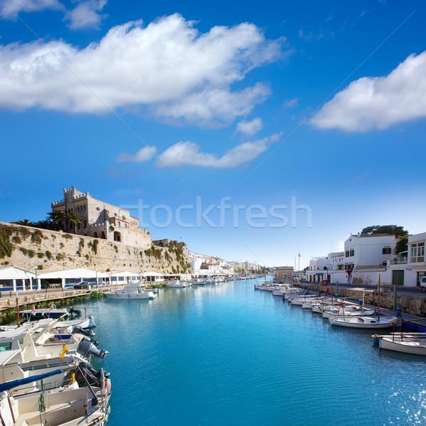 Marina porta ver prefeitura praia cidade Foto stock © lunamarina