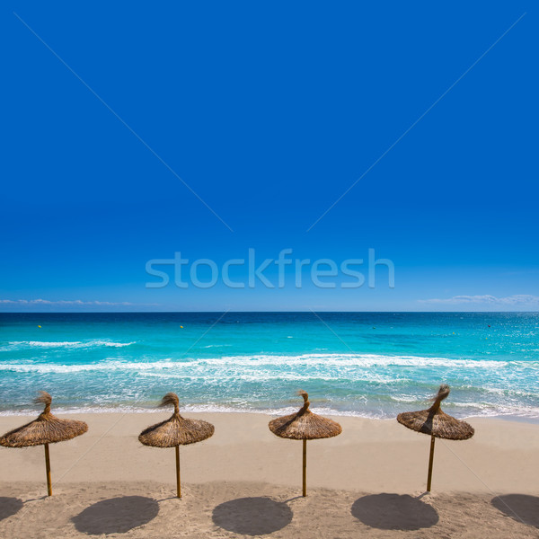 Menorca Platja Sant Tomas in Es Mitjorn Gran at Balearics Stock photo © lunamarina