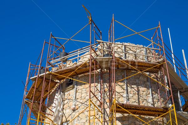 Tour maçonnerie amélioration construction Espagne Photo stock © lunamarina