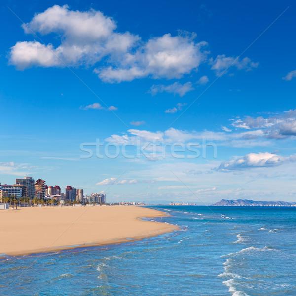 gandia beach in mediterranean sea Stock photo © lunamarina