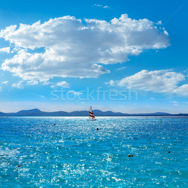 Strand majorca eilanden Spanje hemel natuur Stockfoto © lunamarina