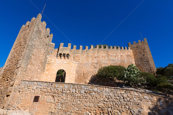 Castelo mallorca ilha Espanha edifício azul Foto stock © lunamarina