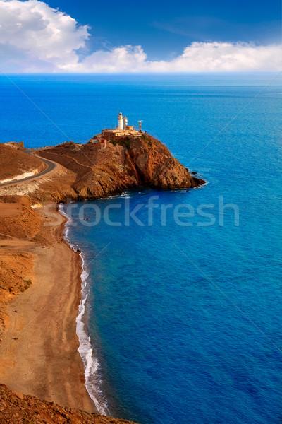 Stok fotoğraf: Deniz · feneri · akdeniz · İspanya · deniz · su