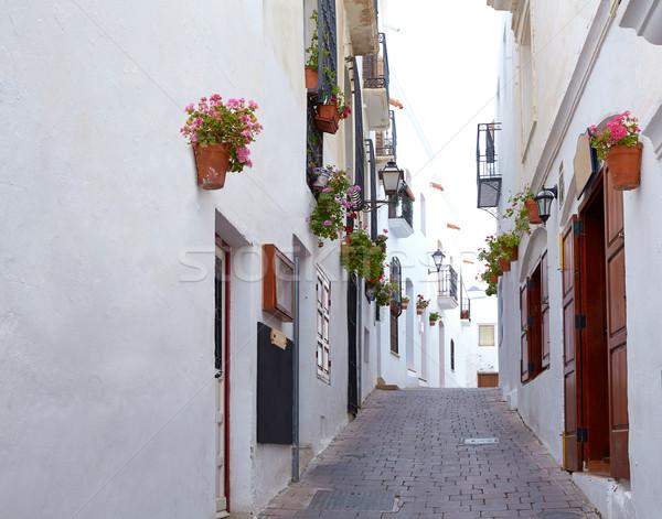 Blanco mediterráneo pueblo España ciudad calle Foto stock © lunamarina