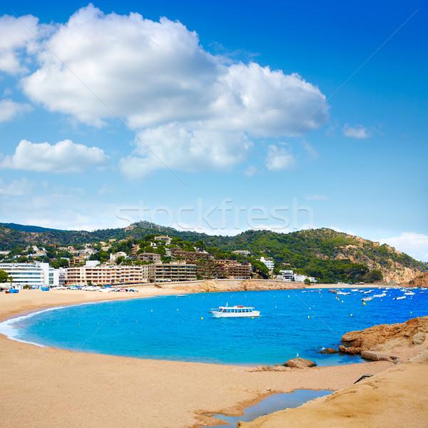 Tossa de Mar beach in Costa Brava of Catalonia Stock photo © lunamarina