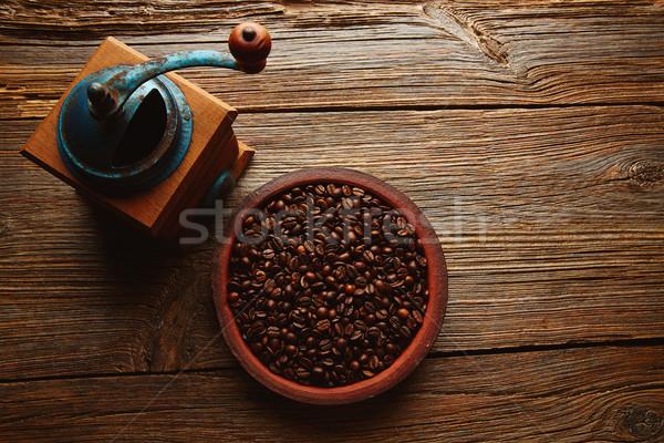 コーヒー グラインダー ヴィンテージ 木製 古い 表 ストックフォト © lunamarina