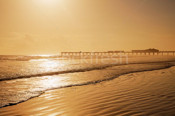 Plaj Florida iskele ABD kıyı su Stok fotoğraf © lunamarina