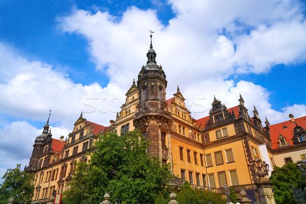 ドレスデン ドイツ 通り 青 城 ヨーロッパ ストックフォト © lunamarina