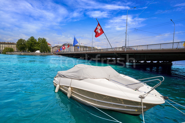 Geneva Geneve at Leman lake in Swiss Stock photo © lunamarina
