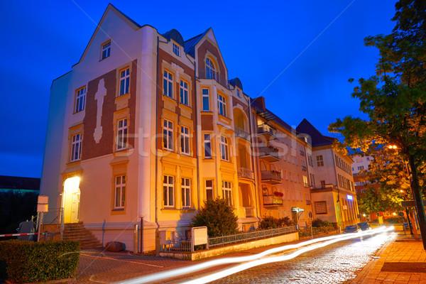 Night City Niemcy wygaśnięcia drzew lata podróży Zdjęcia stock © lunamarina