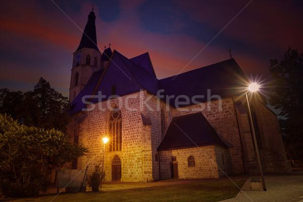 Chiesa Germania tramonto primavera montagna estate Foto d'archivio © lunamarina
