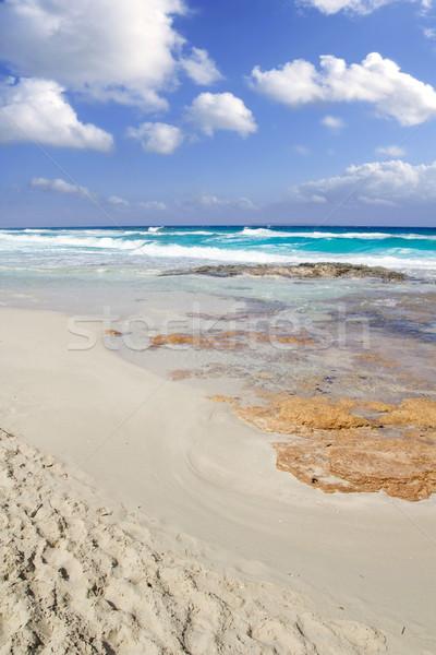 Formentera Llevant beach Illetas Balearic Islands Stock photo © lunamarina