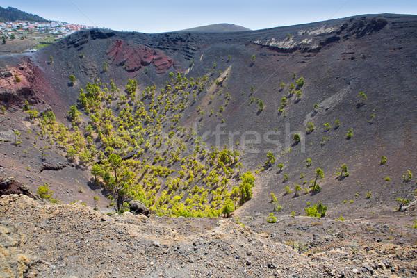 クレーター ラ 火山 カナリア諸島 風景 砂漠 ストックフォト © lunamarina