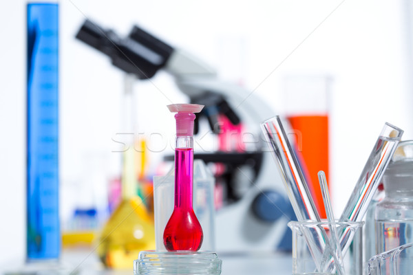 Chemical scientific laboratory stuff test tube flask Stock photo © lunamarina