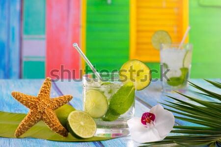 Kokteyller seks plaj tropikal ev renkli Stok fotoğraf © lunamarina