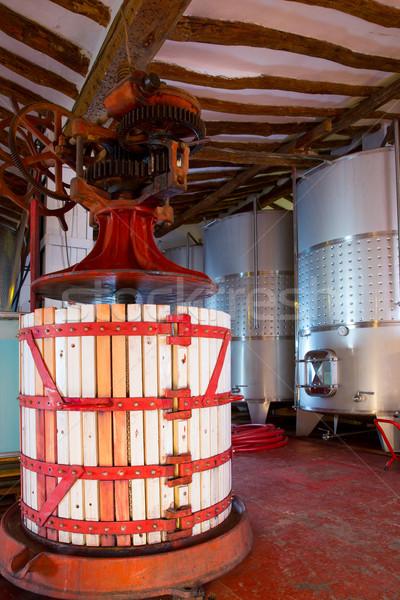 ワイナリー キーを押します ステンレス鋼 発酵 金属 工場 ストックフォト © lunamarina