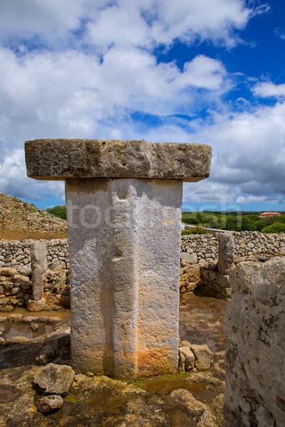 Menorca Taules Torralba de en Salort Salord prehistoric Stock photo © lunamarina