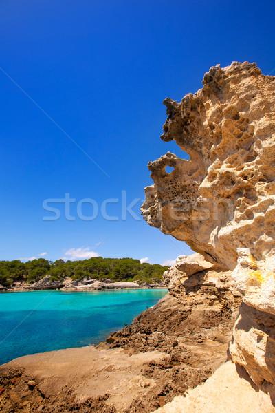 Middellandse zee turkoois hemel water zee achtergrond Stockfoto © lunamarina