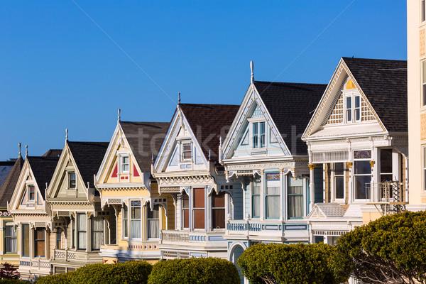 San Francisco casas praça Califórnia EUA estrada Foto stock © lunamarina