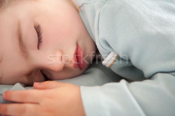 baby toddler sleeping closed eyes relaxed Stock photo © lunamarina