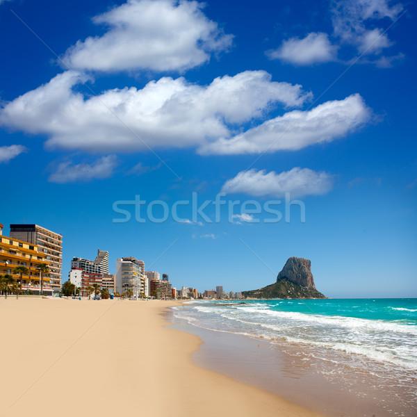Calpe Alicante Arenal Bol beach with Penon de Ifach Stock photo © lunamarina