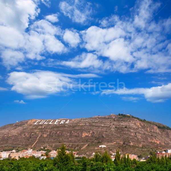 Falu hegy Valencia mediterrán Spanyolország part Stock fotó © lunamarina