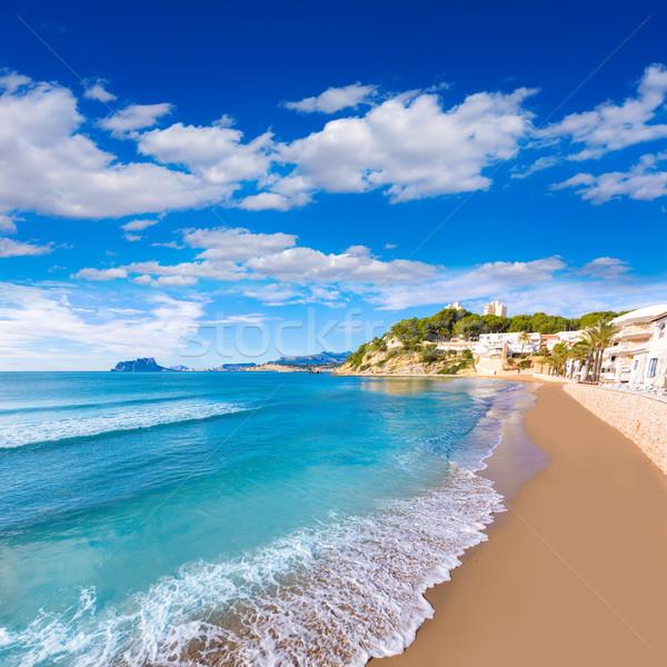 Moraira playa El Portet beach turquoise water in Alicante Stock photo © lunamarina