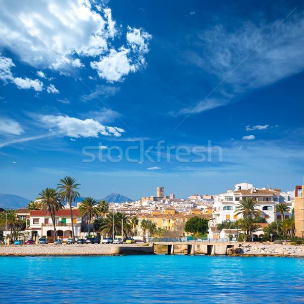 Javea Xabia skyline from Mediterranean sea Spain Stock photo © lunamarina