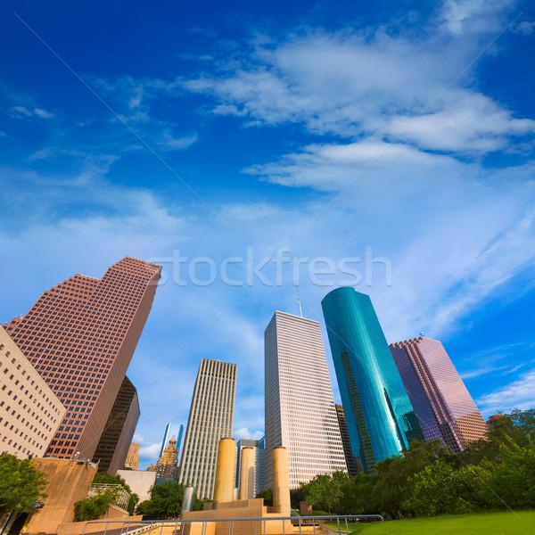 Houston ufuk çizgisi park Teksas gökyüzü Stok fotoğraf © lunamarina