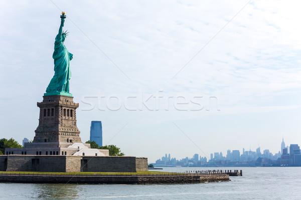 статуя свободы Нью-Йорк Manhattan США архитектура Сток-фото © lunamarina
