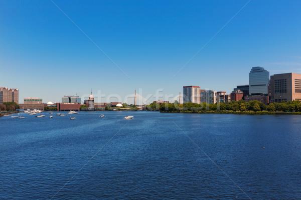 Бостон моста Массачусетс США бизнеса небе Сток-фото © lunamarina